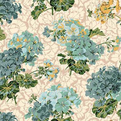 Snow Leopard English Garden PWSL053 Garden Peonies Harvest Cotton Fabric By Yd
