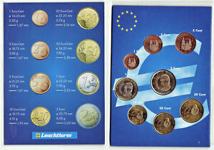 ESPAGNE 2009 Série complète 8 Pièces € / Sous encart / Etat UNC / 4 000 000 Ex.