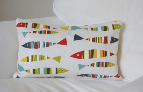 "Seaside Beach Cushion Covers Prestigious Textiles Fish Oblong Rectangular 12x18/"""
