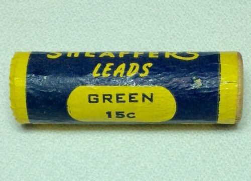 "Sheaffer Short Super Smooth GREEN Leads Wooden Tube .046/"" 1.1mm"