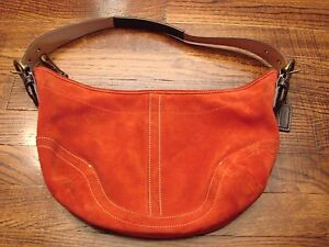 Image Is Loading Coach Red Suede Purse Handbag G043 4286 Small