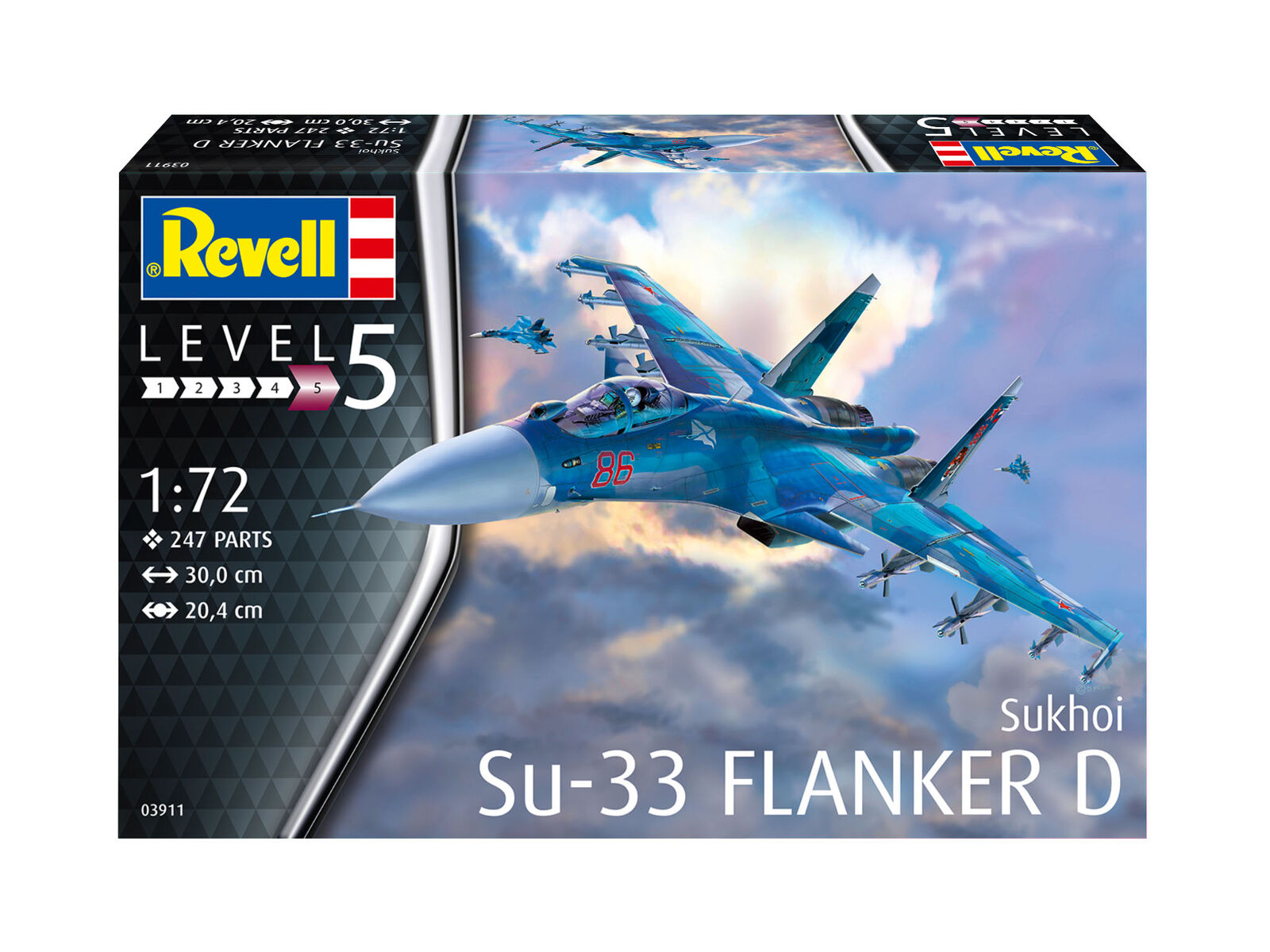 Sukhoi Su-33 Navy Flanker Kit REVELL HOBBY '1 72 RV03911 Model