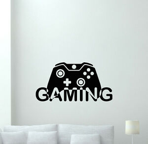 Image Is Loading Video Game Wall Decal Gaming Gamepad Playroom Vinyl