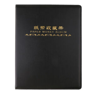 Storage 60 Paper Money Currency Banknote Collection Album Pocket Book Green
