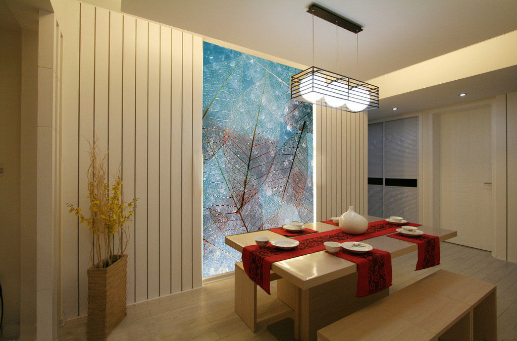 3D Mega Clearly Leaves Veins580Wall Paper Wall Print Decal Wall Deco Indoor Wall