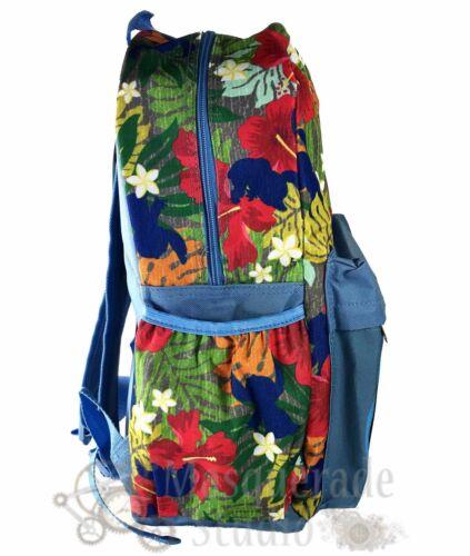 """16/"""" Disney Stitch Floral All Over Imprimé Sac à dos Stitch visage Compartiment"""