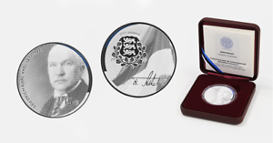 Estland 15 euro Silbermünze 2021 Friedrich Karl Akel  PP box coa !