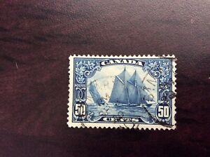 50-cents-Bluenose-Scott-158-used-F-VF-100-value-St-Marys-cancel-one-short-perf