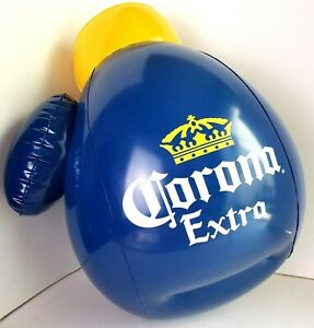 Corona-Extra-Boxing-Glove-beer-Inflatable-NEW-16-034-Blue-amp-Yellow-Cerveza-Bar-Cave