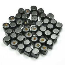20 perles Cube en bois 10mm couleur noir 10 mm perle, bijoux, bracelet