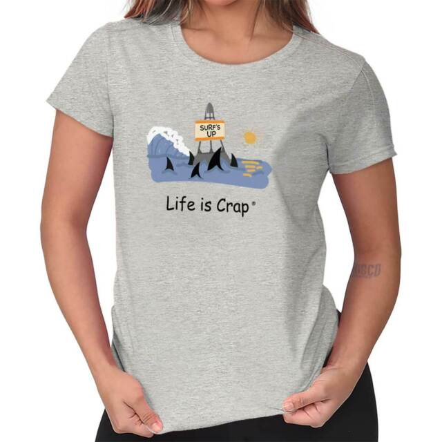 Life is Crap Sarcastic T Shirt Dishwasher Funny Gift Cool Womens Tee T Shirts