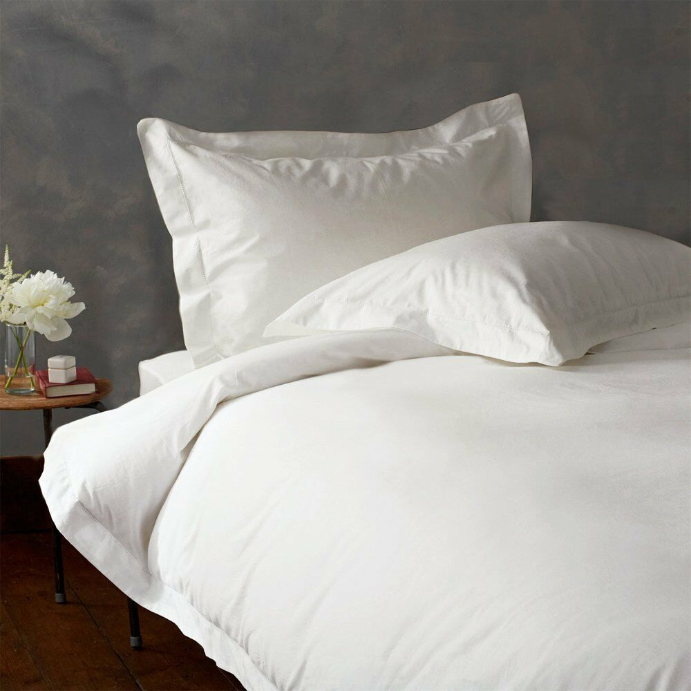 King   California King White Solid Duvet Set 1000 Threads Count 100% Egyp Cotton