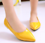 New-Fashion-Womens-Patent-Leather-Flat-Heels-Pointy-Toe-Shoes-Slip-On-Loafers-SZ thumbnail 10
