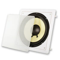 10 Svc In Wall Subwoofer Speaker.bass Flush Mount Sub.home Theater.surround