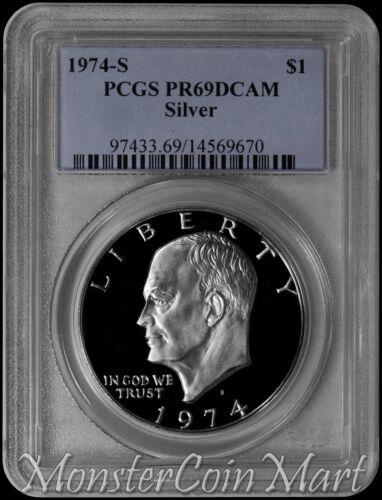 1974-S Silver Eisenhower Dollar PCGS PR69DCAM