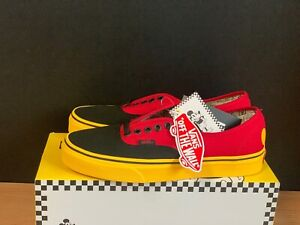 VANS-X-DISNEY-Mickey-Mouse-Authentic-RED-Shoes-Sneakers-VN0A38EMUK9