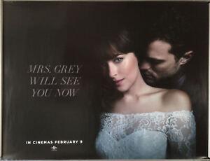 Cinema Poster Fifty Shades Freed 2018 Mrs Grey Quad Dakota Johnson Ebay
