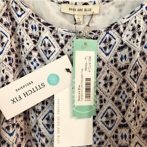 Stitch-Fix-Skies-Are-Blue-Langlock-Cold-Shoulder-Top-XL-NWT