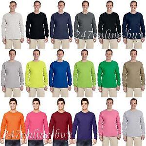Fruit of the Loom Mens HD Cotton Long Sleeve T-Shirt S M L XL 2XL 3XL 4930R-4930
