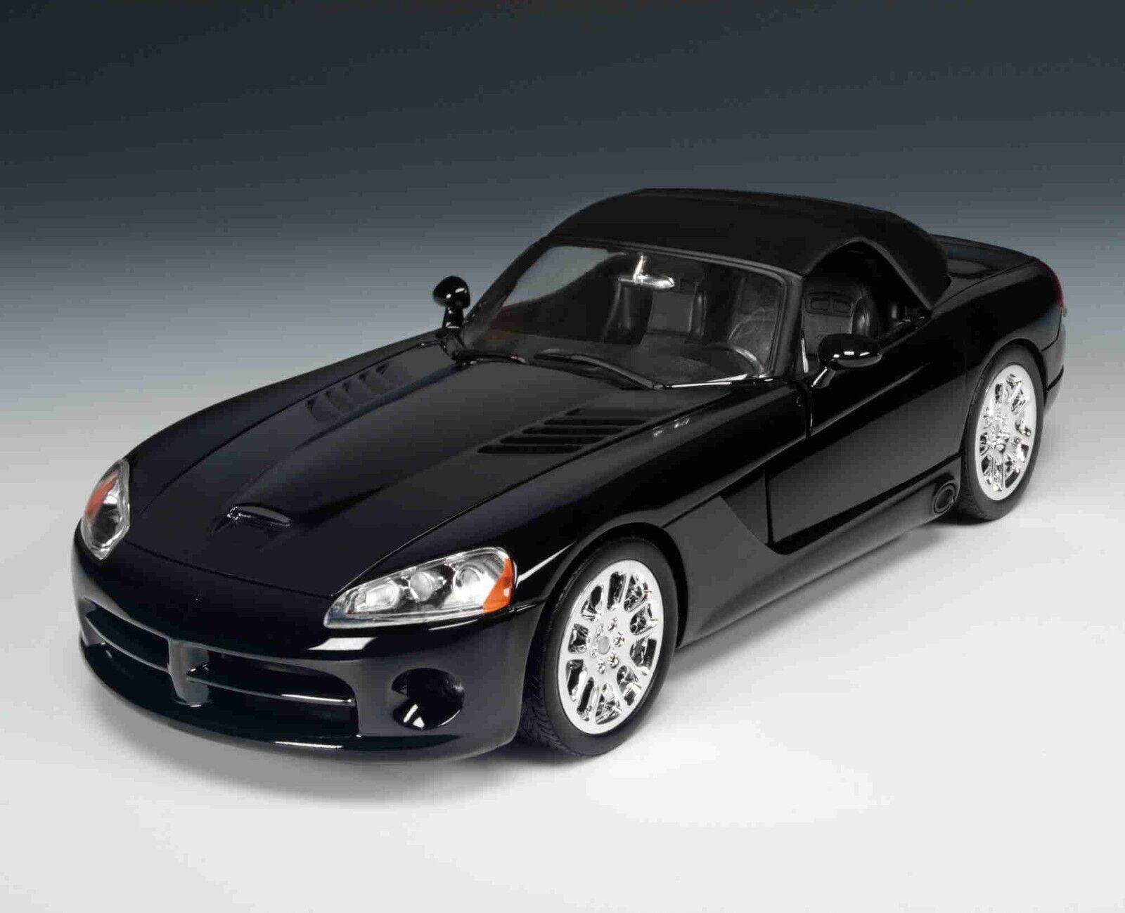 2003 Dodge Viper Srt 10 nero 1 18 Ertl American Muscle 33249
