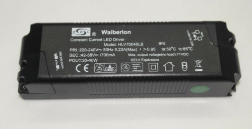 WAIBERLON HLV70040LB LED Driver Trafo Transformator 42-58 V 700 mA 30-40 Watt