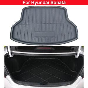 1pcs Black Color Car Boot Pad Carpet Trunk Cargo Liner Floor Mat Molded Cargo Tray Custom Fit for Hyundai Elantra 2012 2013 2014 2015 2016 2017 2018 2019 2020