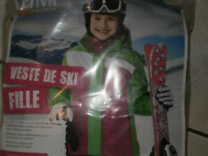 Inventif Veste Ski Fille 8/10 Ans Crivit Sports 134/140 Cm..belles Couleurs Vives Neuve