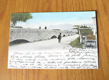 CARTOLINA GENOVA ALBENGA PONTE ROMANO RARA VIAGGIATA 1902 SUBALPINA QQ
