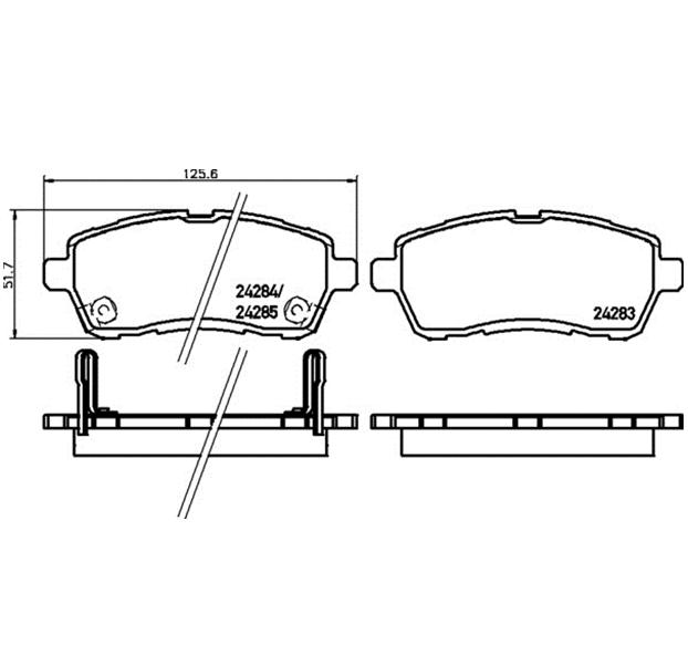 Bremsbeläge Bremsklötze SATZ für Daihatsu Sirion M3/_ Suzuki Baleno FW EW Mazda 2