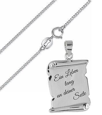 Wunsch Gravur Armkette Echt Silber 925 für Jungen und Mädchen