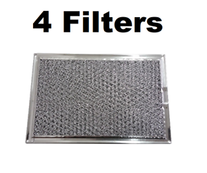 Details About Microwave Hood Mesh Grease Filter For Ge Ap3883320 Ps1018833 4 Pack