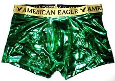 MENS AMERICAN EAGLE CLASSIC TRUNK METALLIC GREEN BOXER BRIEF SIZE XL (40/42)