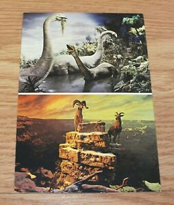 Genuine-Vintage-Disneyland-Dinosaurs-Rams-Collectible-Post-Card-READ