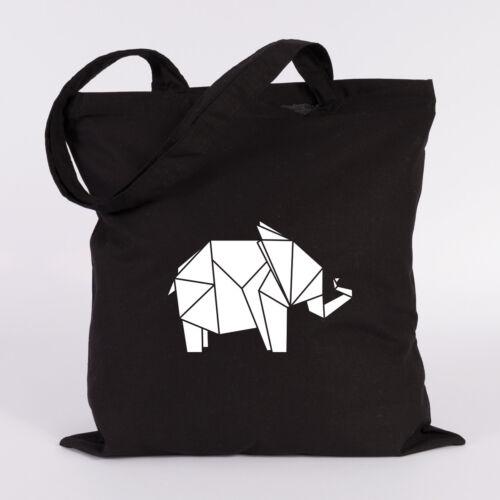 """JUNIWORDS Jutebeutel /""""Origami Elefant/"""" verschiedene Farben Geschenk Tasche"""