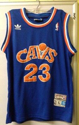 timeless design 0e704 a1c2c VTG NBA ADIDAS SZ L CAVALIERS #23 JAMES LEBRON CAVS BLUE ...