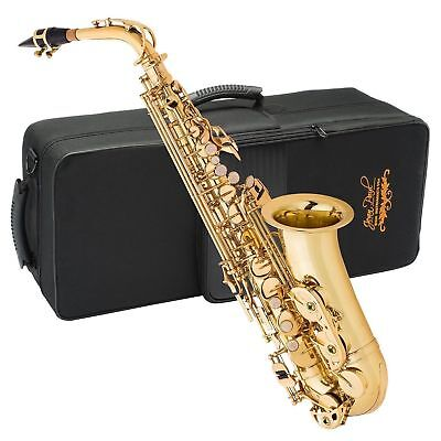 Jean Paul USA AS-400 Student Alto Saxophone -Key of Bb With Case, Cloth & Grease