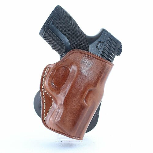 Leather OWB Paddle Holster fits Sccy CPX1 9mm 3.1/'/'BBL With Safety Sccy X2