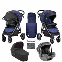 Joie Litetrax 4 Wheel Carrycot Igemm Travel System Eclipse Flash Fold Birth Plus