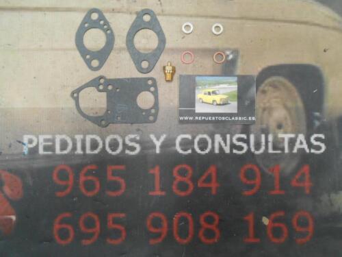 01 SUPER KIT REPARACION CARBURADOR SOLEX 26 DIS RENAULT 4L 850 cc.