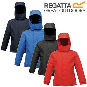 Regatta-Kids-Boys-Girls-Waterproof-Fleece-Lined-School-Jacket-Hooded-Coat