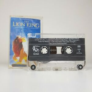 Disney-039-s-The-Lion-King-Audio-Soundtrack-Cassette-Tape-TESTED-WORKING-English