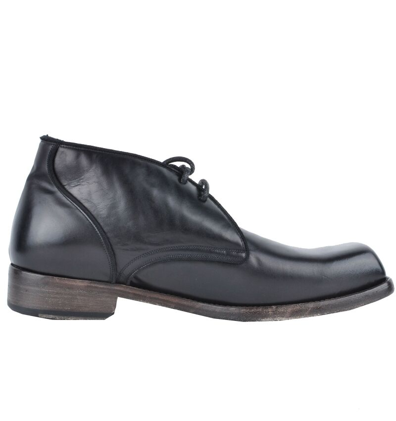 DOLCE & GABBANA RUNWAY Boots Shoes Black Bottes Chaussures Noir 02902