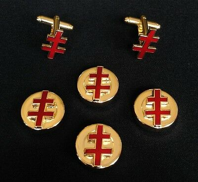 33rd Degree Eagle Button Cover /& Cuff Link Set 33EG-BCL