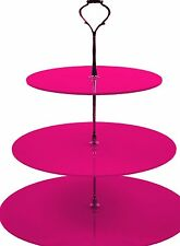 3 Tier Cake Stand for Cup Cakes / Muffins in Pink Acrylic - CS0009 PINK