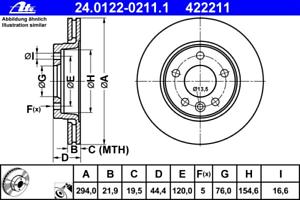 Bremsscheibe 2 Stück ATE 24.0122-0211.1
