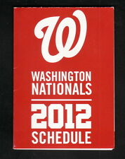 2012 Washington Nationals Schedule--Miller Lite