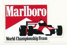 """ADESIVO/STICKER ORIGINALE ANNI 90 """" FORMULA 1 /MARLBORO WORLD CHAPIONSHIP TEAM """""""