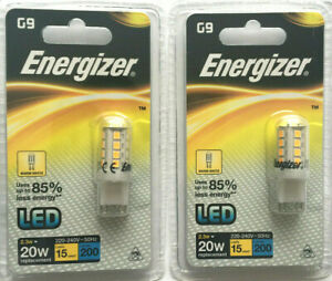 2-x-Energizer-G9-LED-Energy-Saving-Light-Bulb-Warm-White-Hightech-Lamp-20W-New