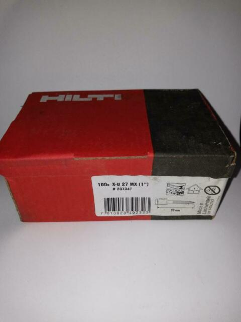 100 x Hilti 27mm 1 Inch X-C  27 MX Nails For GX100 // GX120 GX3