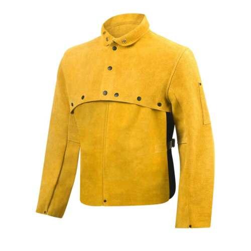 "Steiner 8212-M Quality Cowhide Welding Cape Sleeves With 14/"" Bib Bourbon Medium"